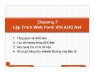 Bài giảng Lập trình Web ASP.Net: Chương 7 - Dương Thành Phết