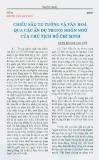 Chiều sâu tư tưởng và văn hóa qua các ẩn dụ trong ngôn ngữ của Chủ tịch Hồ Chí Minh