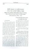 Điển dạng và hiển dạng của câu ghép tiếng Việt xét từ ngôn ngữ học đại cương (Qua khảo sát của hoạt động của phát ngôn chứa cấu trúc {Nếu ... thì})
