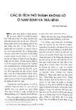 Các di tích thờ thánh Không Lộ ở Nam Định và Thái Bình