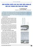 Ảnh hưởng chiều cao trụ tháp đến phân bố nội lực trong cầu treo dây võng