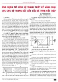 Ứng dụng mô hình hệ thanh thiết kế vùng chịu lực cục bộ trong kết cấu cầu bê tông cốt thép
