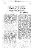 Cú - đơn vị nghiên cứu hành động cầu khiến trong thơ tiếng Việt