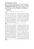 Khảo sát hoạt tính kháng oxy hoá và kháng vi khuẩn Enterobacter cloacae của các cao chiết từ cây cỏ mực (Eclipta alba Hassk.)