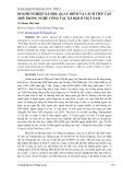 Doanh nghiệp xã hội: Quan điểm và cách tiếp cận mới trong nghề Công tác xã hội ở Việt Nam