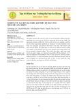 Nghiên cứu tạo bùn hạt hiếu khí trên bể phản ứng theo mẻ luân phiên