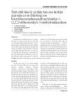 Tính chất hóa lý và điện hóa của hệ điện giải trên cơ sở chất lỏng ion bis(trifluoromethanesulfonyl)imidur 1- (2,2,2-trifluoroethyl)-3-methylimidazolium