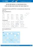Giải bài tập Luyện tập bảng cộng và bảng trừ trong phạm vi 10 SGK Toán 1
