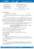 Đề thi thử THPT Quốc gia năm 2017 môn Ngữ văn lần 1 - Trường THPT Lý Thái Tổ (có đáp án)
