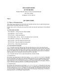 Tiêu chuẩn ngành 22 TCN 286:2001