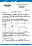 Đề thi thử THPT Quốc gia năm 2017 môn Vật lý - Trường THPT Yên Dũng 1 (có đáp án)