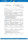 Đề thi thử THPT Quốc gia năm 2017 môn Vật lý lần 1 - Trường THPT Thanh Miện (có đáp án)
