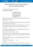 Giải bài tập 1,2,3,4,5,6,7 trang 54 SGK Vật lý 11