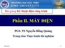 Bài giảng Kỹ thuật điện công trình (Phần 2: Máy điện): Chương 6 - PGS.TS. Dương Hồng Quảng