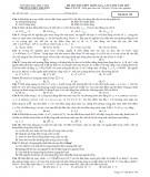Đề thi thử THPT Quốc gia, lần cuối năm 2015 môn Vật lí - Trường THPT chuyên Đại học Vinh (có đáp án)