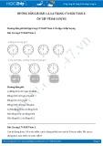 Hướng dẫn giải bài 1,2,3,4 trang 174 SGK Toán 2