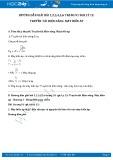 Giải bài tập 1,2,3,4,5,6 trang 91 SGK Vật lý 12