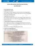 Hướng dẫn giải bài tập bài Ngày khai trường SGK Tiếng Việt 3