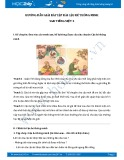 Hướng dẫn giải bài tập bài Cậu bé thông minh SGK Tiếng Việt 3