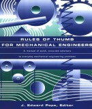 Ebook Rules of thumb for mechanical engineers: Part 1