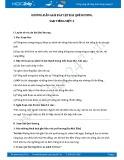 Hướng dẫn giải bài tập bài Quê hương SGK Tiếng Việt 3
