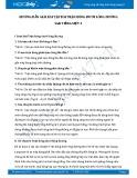 Hướng dẫn giải bài tập bài Trận bóng dưới lòng đường SGK Tiếng Việt 3