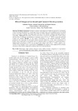 Effect of Nitrogen on Growth and Lipid Content of Chlorella pyrenoidosa