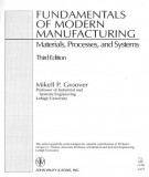 Ebook Fundamentals of modern manufacturing (3rd edition): Part 2