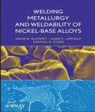 Ebook Welding metallurgy and weldability of nickel-base alloys: Part 1