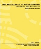 Ebook The machinery of government structure and functions of government: Part 1