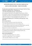 Hướng dẫn giải bài C5,C6,C7 trang 38 SGK Vật lý 6
