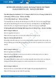 Hướng dẫn giải bài C4,C5,C6,C7 trang 22 SGK Vật lý 6