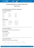 Giải bài tập Bảng nhân 2 SGK Toán 2