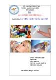 Báo cáo: Các dạng thuốc trong bào chế