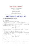 Giải tích (cơ bản): Không gian mêtric (tt)
