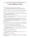 Câu hỏi ôn tập học kì 2 môn Sinh học lớp 11