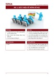 Bài giảng Nguyên lý thống kê - Bài 1: Giới thiệu về thống kê học