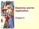 Lecture Principles of microeconomics - Chapter 5: Elasticity and its application