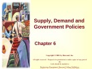 Lecture Principles of microeconomics - Chapter 6: Supply, demand and government policies