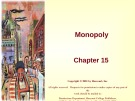Lecture Principles of microeconomics - Chapter 15: Monopoly