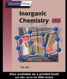 Ebook Instant notes - Inorganic chemistry (2nd edition): Part 1