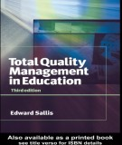 total quality management in education (3rd edition): part 1