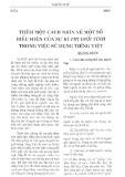 Thêm một cách nhìn về một số biểu hiện của sự kì thị giới tính trong việc sử dụng tiếng Việt