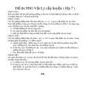 Đề thi HSG Vật Lý cấp huyện (Lớp 7)