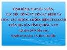 Báo cáo: Tình hình, nguyên nhân, các yếu tố nguy cơ gây bệnh và công tác phòng, chống bệnh tai xanh trên địa bàn tỉnh Quảng Nam (từ năm 2009 đến nay)