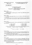 Đề thi chọn học sinh giỏi cấp tỉnh năm 2011-2012 môn Hóa học 9 - Sở Giáo dục và Đào tạo tỉnh Đồng Tháp (có hướng giải chi tiết)