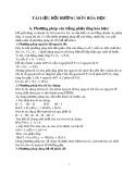 Tài liệu bồi dưỡng môn Hóa học THCS
