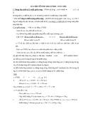 Bài tập về tính theo PTHH ( Toán dư)