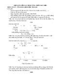 Dạng bài tập xác định công thức hóa học