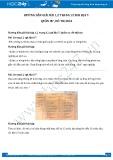 Giải bài tập Quần cư, đô thị hóa SGK Địa lí 7